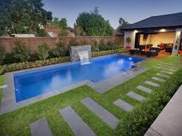 small inground pool designs waterfalls small backyard inground pool design inspiring nifty