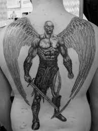 dark angel crying tattoo outer forearm hurts warrior guardian