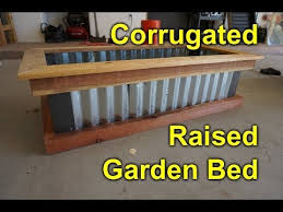 corrugated raised garden bed diy easy build project to beautify