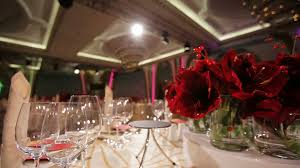 festive table decoration wedding banquet interior of a wedding