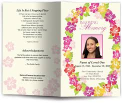 funeral program template aloha funeral program template aloha hawaii funeral programs