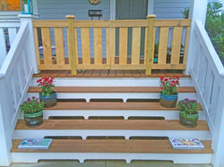 custom front porch double gate in elizabeth heights charlotte