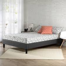 zinus essential full upholstered platform bed frame hd efpb f