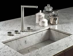 Carrara Marble Kitchen by Boffi Marble Undermounted Basin Detail Kitchens Pinterest