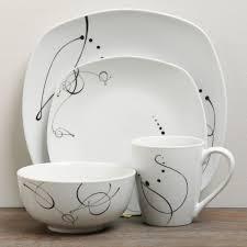 modern kitchen plates ttu gallery u0027pescara u0027 16 piece dinnerware set overstock com