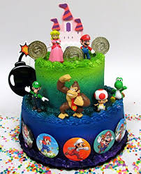 mario cake mario brothers 23 birthday cake topper set
