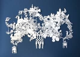 paper city illustration research into paper art cut outs