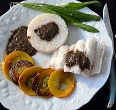 cuisiner des gardons sauce au plantain sur julienne courgettes poelees et riz basmati