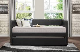 homelegance andra daybed with trundle black 4949bk