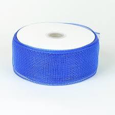 mesh ribbon wholesale floral mesh ribbon royal blue 2 1 2 inch x 25 yards bbcrafts