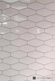 light grey hexagon tile used with a weure light grey hexagon tile loving these bronte