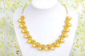make pearl necklace images How to make galaxy gold pearl necklace pandahall beads jewelry jpg
