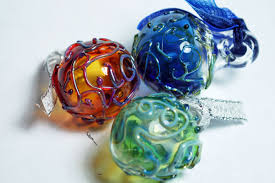 handblown ornament pendants azen glass the glass of