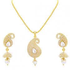 gold sets design online sukkhi finely kairi design gold plated pendant set