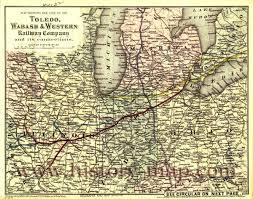 Toledo Map Wabash U0026 Western Railway