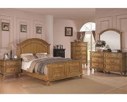 emily bedroom set emily 5 pc bedroom set in cherry bed dresser coaster emily bedroom set in light oak co 202571set