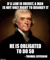 Meme Law - jefferson on unfair laws imgflip