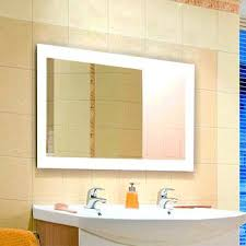 Backlit Bathroom Mirror by Backlit Mirror Large Backlit Mirrors Full Size Of Bathroom