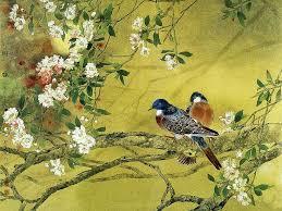 Flower And Bird - flower paintings paintings gongbi