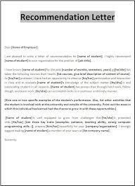 Reference Samples For Resume by Student Letter Letter Of Recommendation For Medical Student