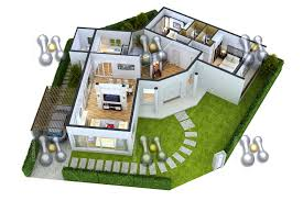 3 Bedroom Flat Floor Plan by Simple House Plan With 3 Bedrooms 3d Simple House Plan With 2