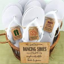 wedding flip flops wedding flip flops with personalized kraft tag white set of 16
