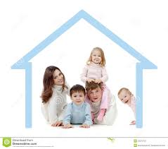 Their Home by Happy Family In Their Own Home Concept Stock Photos Image 22275703