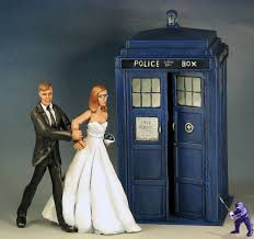 doctor who wedding cake topper doctor who tardis wedding cake toppers miniature showcase wyrd