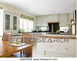 cucina sala pranzo archivio fotografico grande moderno crema cucina sala da