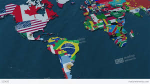 World Map Of South America by 3d World Map Zoom To South America Stock Animation 529620
