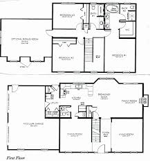 4 bedroom floor plans 2 story two story house plans lovely 4 bedroom floor plans 2 story design