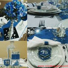 denim u0026 diamonds themed luncheon table decorations centerpieces