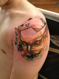 owl abstract tattoo by voller konstrat