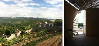 Homes Built Into Hillside An Architectural Designer U0027s Holistic Approach Helps Haiti Build