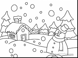brilliant preschool winter coloring pages with winter coloring