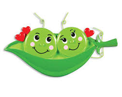 two peas in a pod christmas ornament pea ornament etsy