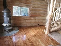 log floor circular sawn burnt flooring montana specialty log