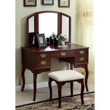 Bedroom Furniture Free Shipping by Furniture Of America Doris Solid Wood Vanity Table And Stool Set