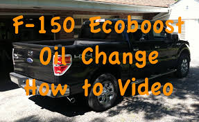 f 150 ecoboost oil change how to video youtube