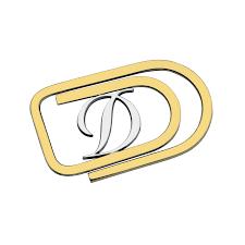 coupe papier design gold u0026 palladium finish money clip s t dupont