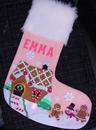 gingerbread lane christmas stocking custom by trendymunchkins
