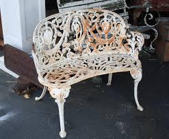 Wrought Iron Vintage Patio Furniture - antique ornate cast iron three piece set for sale antiques com