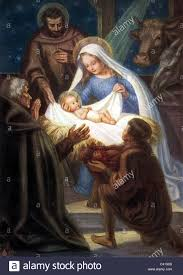 nativity holy joseph and baby jesus in the