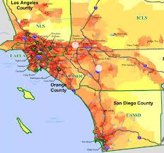 california map population density rancho maps l a