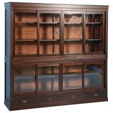 Bookcase With Door by Antique Japanese Bookcase Or Cabinet With Sliding Glass Doors
