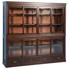 Glass Door Bookshelf Antique Japanese Bookcase Or Cabinet With Sliding Glass Doors