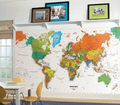 8 large map wall decal world map wall decal map decal geography kid friendly large colorful world map wall decals stickers murals