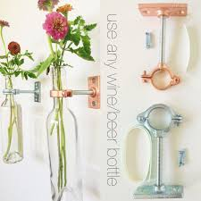 Wall Flower Decor by Hardware Only 1 Wine Bottle Wall Flower Vase Kits Copper
