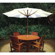 patio ideas 10ft deluxe solar led lighted patio umbrella with