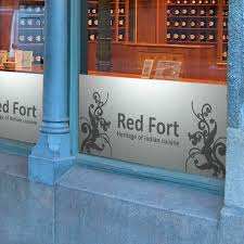 customisation cuisine customised frosted vinyl window graphics cut vinyl signs lettering